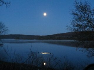 Full Moon Over Lake