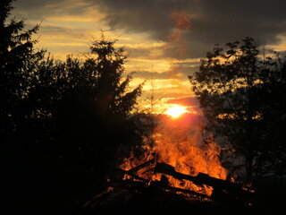 Bonfire Sunset