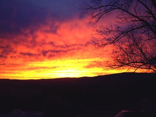 Sunrise in Gilbertsville, NY