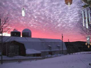 Sunrise on the Jenne Farm was gorgeous!