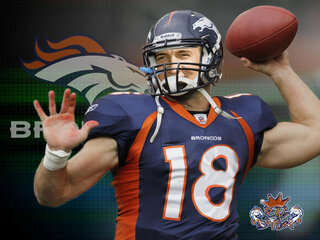 PEYTON MANNINGS SIGN WITH DENVER BRONCOS
