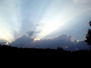 Sun Rays passing over Clouds