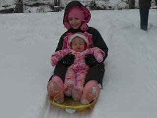 First time Sledding