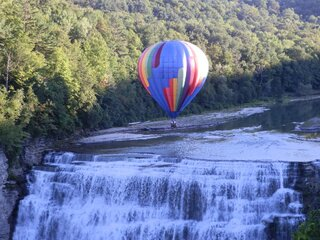 Hot Air Balloon Over Letchworth Falls