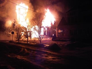 Church Fire In Walton