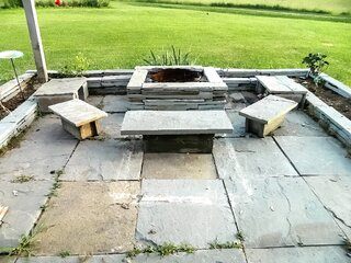 Blue Stone Fire Place