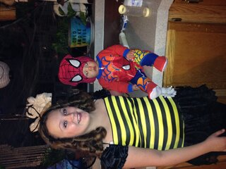 Ayden and sissy 1st Halloween