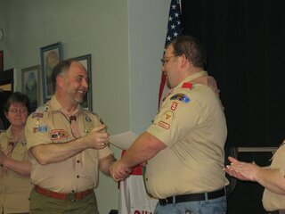 Scout leader earns top Boy Scout award