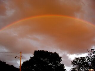 Brilliant Rainbow Over Owego