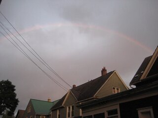 rainbow on west side of Binghamton
