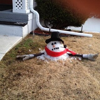 Poor Frosty the Snowman