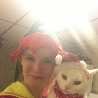 merry christams nichole and her cat