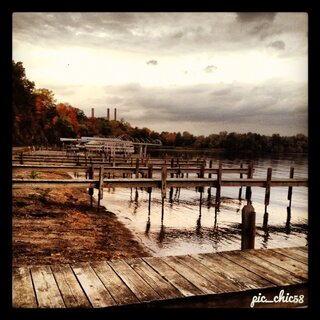 Ghostly Empty Docks