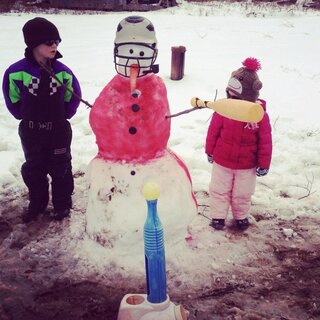 Tucker and Gemma's T-Ball Snowman
