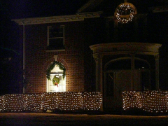 Christmas Lights N Chenango St Greene
