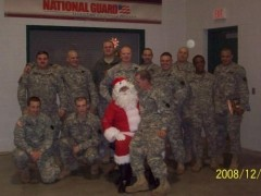 Santa with the 109th Infantry Regiment