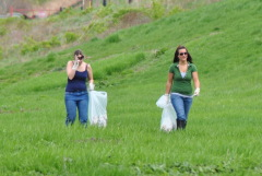 Chenango riverbank clean-up