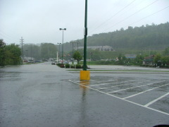 Campus Plaza in Vestal Flooded