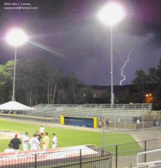 Lightning Suspends Oneonta Outlaws Game