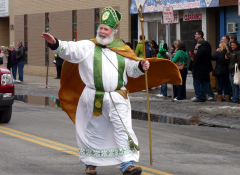 People in St. Patrick's Day Parade
