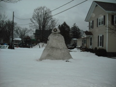 Snowman loose the battle with Spring!