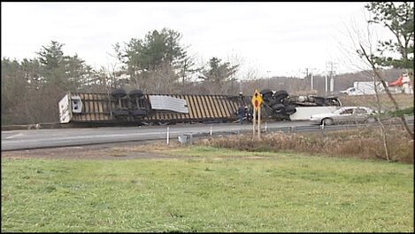 Truck Rollover On I-81 Ramp | WBNG-TV: News, Sports and Weather ...