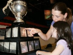 Up close 1st look at the Calder Cup.