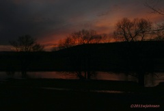 Sunset over the Unadilla River.