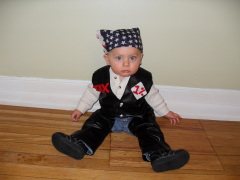 Home Made Baby Biker Custume With Chaps!