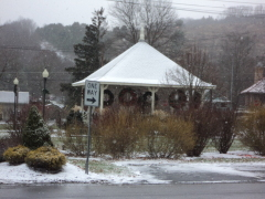 Snowy day in Newark Valley on Saturday!