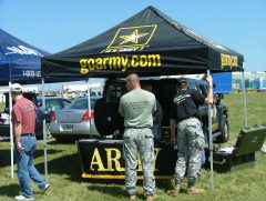 The Go Army Tent at the Air Show