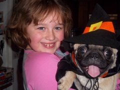 Both pug and owner will be witches