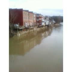 The Owego River Walk - Flood Waters