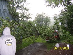 wind damage in downsville on saturday