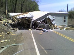 Crash closes road in Bradford County PA