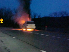 Ford Expedition in Flames on Rte17/I-86W