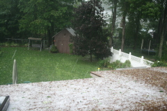 sundays thunderstorm in chenango forks