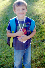 Aidan's first day of Kindergarten
