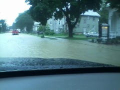 Flooding in Newark Valley,NY