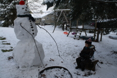 Even the snowman was cold