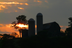 Barn at Sunset in Triangle