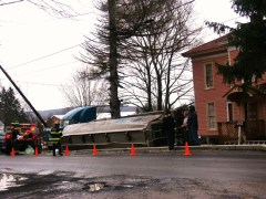 WHITNEY POINT HOMEOWNER GET TANKER IN HIS FRONT YARD