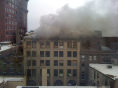 Fire in Downtown Binghamton