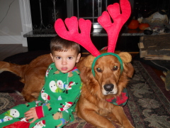 Landon and Maggie the Reindog