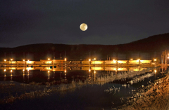 Super Moon Train Reflections!!!