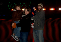 Luce family enjoying the holiday train