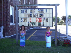 Joanna & Rachel Wish for Town Of Union to Save the Pool