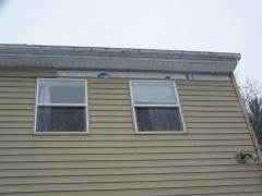 High winds damaged siding