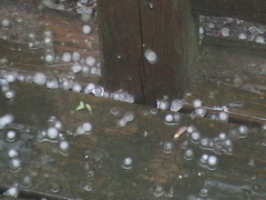 Thunder/hail storm in Broome County