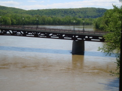 Susquehanna River high after rain